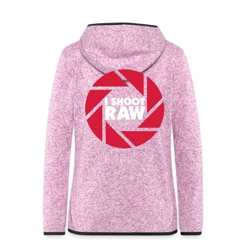 I shoot RAW - weiß - Frauen Kapuzen-Fleecejacke