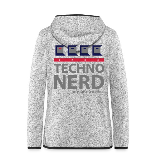 Techno Nerd - Women's Hooded Fleece Jacket