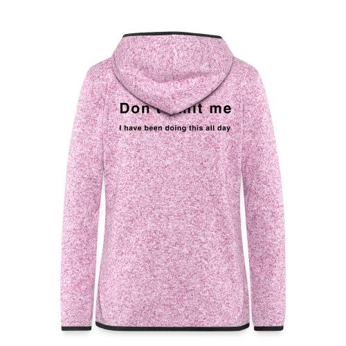 Don't limit me - Zensitivity - Vrouwen hoodie fleecejack
