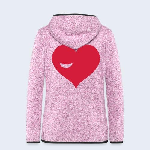 Winky Heart - Vrouwen hoodie fleecejack