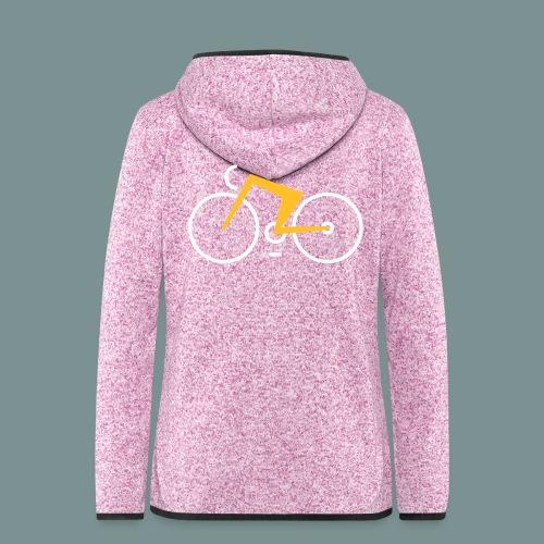 Bikes against cancer - Dame hætte-fleecejakke