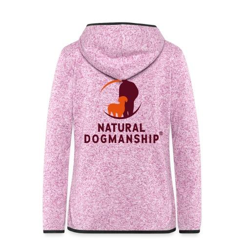 Natural Dogmanship Logo - Frauen Kapuzen-Fleecejacke