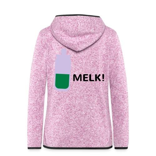 Grappige Rompertjes: Melk - Vrouwen hoodie fleecejack