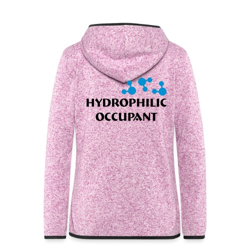 Hydrophilic Occupant (2 colour vector graphic) - Women's Hooded Fleece Jacket