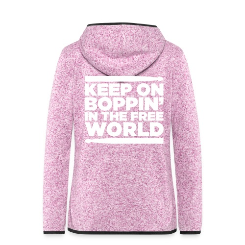 Keep on Boppin' - Women's Hooded Fleece Jacket