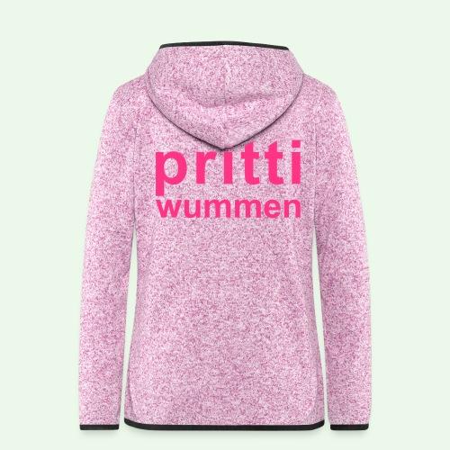 pritti wummen // pretty woman // girl power - Frauen Kapuzen-Fleecejacke