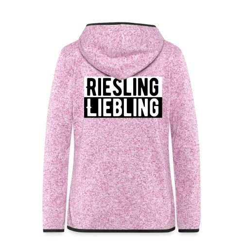 Riesling Liebling / Weintrinker / Partyshirt - Frauen Kapuzen-Fleecejacke