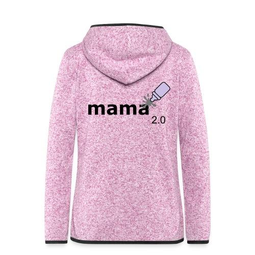 Mama_2-0 - Frauen Kapuzen-Fleecejacke