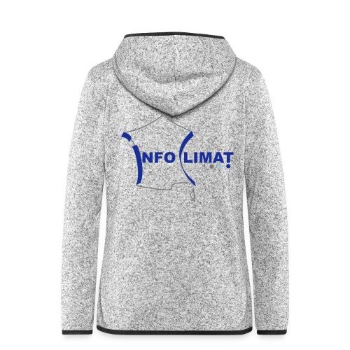 logo simplifié - Veste à capuche polaire pour femmes