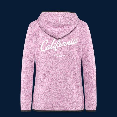 California - Frauen Kapuzen-Fleecejacke