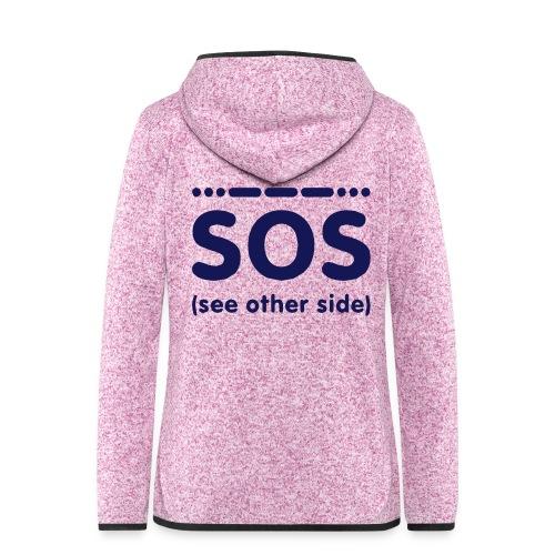 SOS - Vrouwen hoodie fleecejack