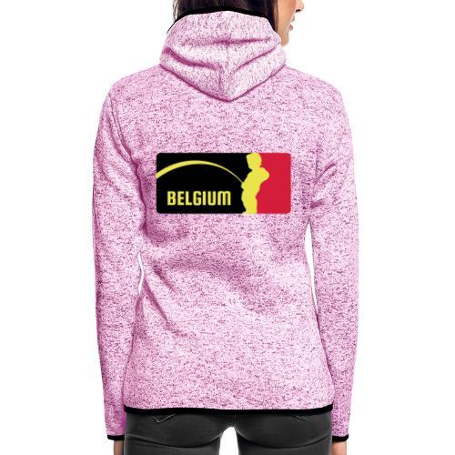 Mannekke Pis, Belgium Rode duivels - Belgium - Bel - Veste à capuche polaire pour femmes