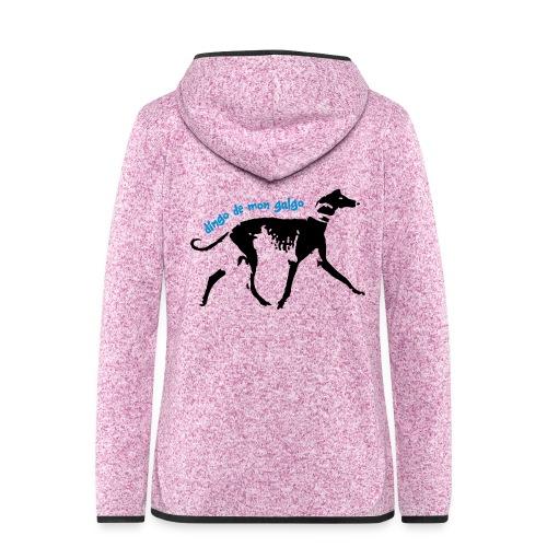 Galgo Dingo de mon galgo - Veste à capuche polaire pour femmes
