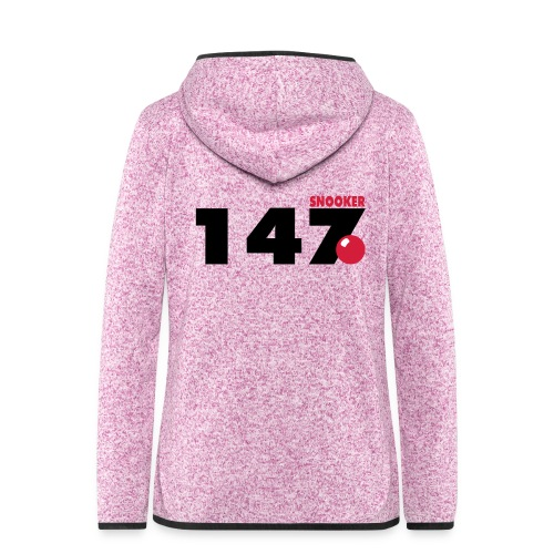 147 Snooker - Frauen Kapuzen-Fleecejacke