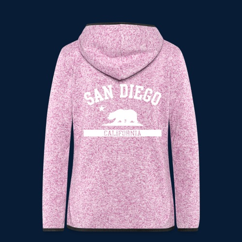 San Diego - Frauen Kapuzen-Fleecejacke