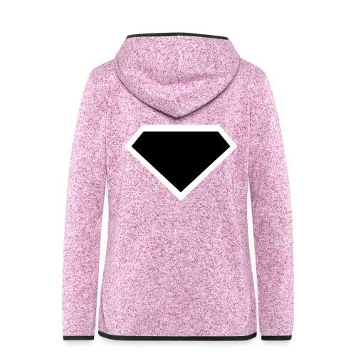 Diamond Black - Two colors customizable - Vrouwen hoodie fleecejack