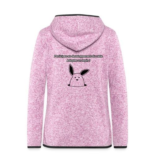 adoptez un lapin ! - Veste à capuche polaire pour femmes