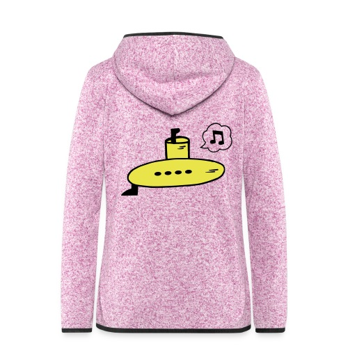 Singing Yellow Submarine - Women's Hooded Fleece Jacket