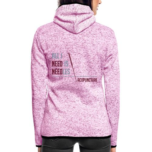All I need is needles - Veste à capuche polaire pour femmes
