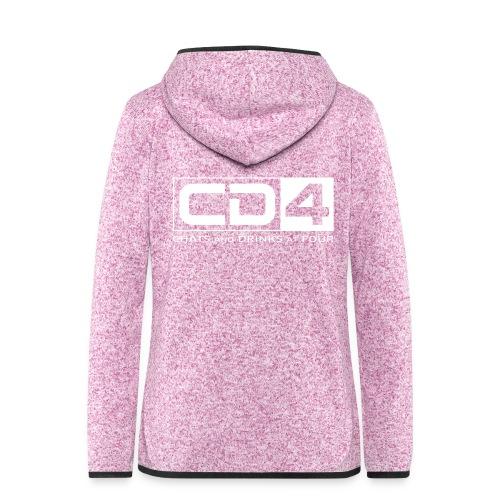 cd4 logo dikker kader bold font - Vrouwen hoodie fleecejack