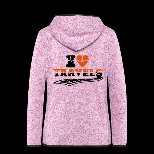 i love travels surprises 2 col - Women's Hooded Fleece Jacket