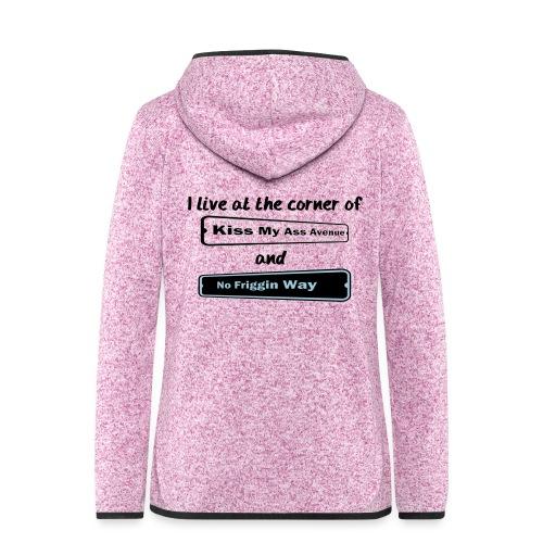 I_LIVE_AT_THE_CORNER_CUT_-2- - Women's Hooded Fleece Jacket