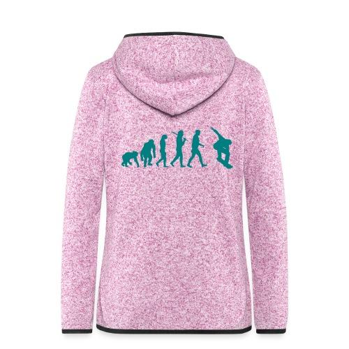 evolution_of_snowboarding - Vrouwen hoodie fleecejack