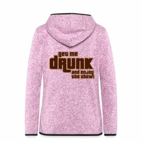 drunk - Giacca di pile con cappuccio da donna