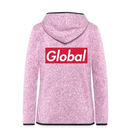 Global - Frauen Kapuzen-Fleecejacke