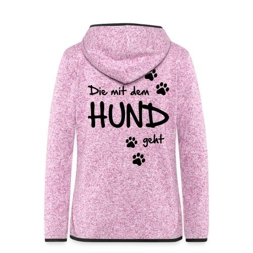 Vorschau: Die mit dem Hund geht - Frauen Kapuzen-Fleecejacke