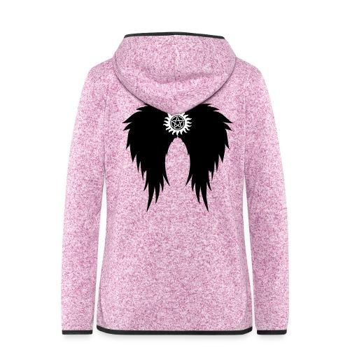Supernatural wings (vector) Hoodies & Sweatshirts - Women's Hooded Fleece Jacket