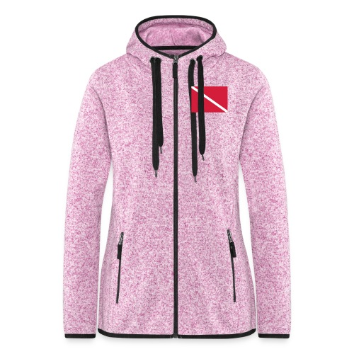 Diver Flag - Women's Hooded Fleece Jacket