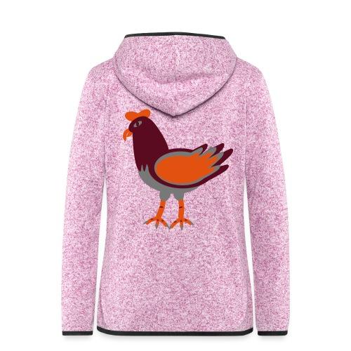 Cock.svg - Giacca di pile con cappuccio da donna