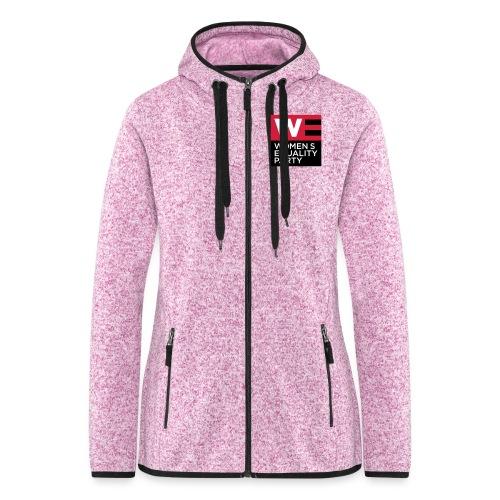 WE_LOGO_RED_CMYK - Women's Hooded Fleece Jacket