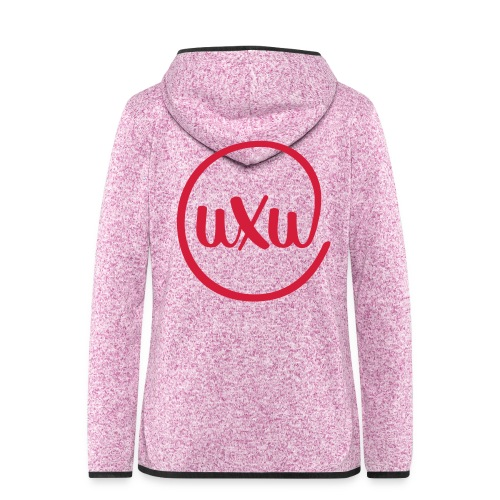 UXU logo round - Women's Hooded Fleece Jacket