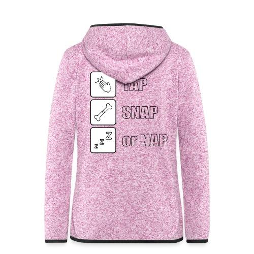 tap snap or nap - Bluza polarowa damska z kapturem