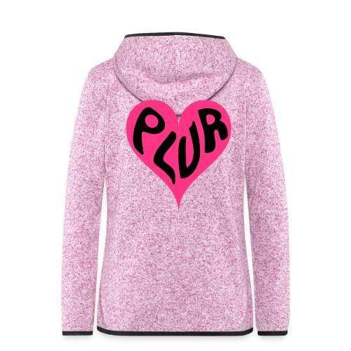 PLUR - Peace Love Unity and Respect love heart - Women's Hooded Fleece Jacket