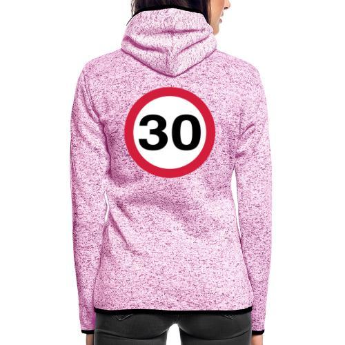 30mph Speed Limit Vector - choose design colours - Women's Hooded Fleece Jacket