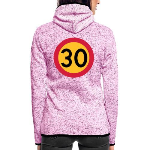 30 kph Road Sign Vector Design - Women's Hooded Fleece Jacket