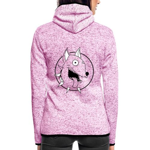chien fou - Veste à capuche polaire pour femmes
