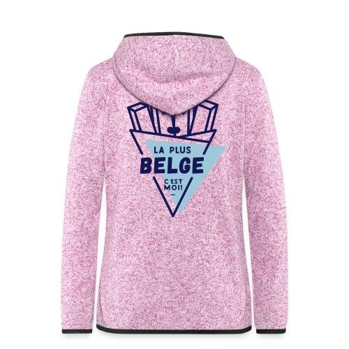 La+Belge - Veste à capuche polaire pour femmes
