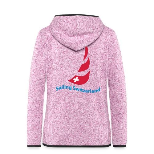 logo sailing switzerland - Frauen Kapuzen-Fleecejacke
