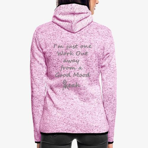 Good Mood Quote design patjila - Women's Hooded Fleece Jacket