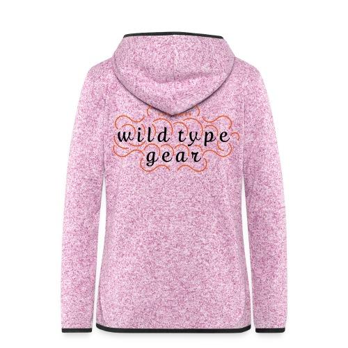 wtg stiched 2 - Women's Hooded Fleece Jacket