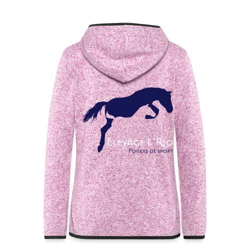logo L Rio bleu fond tran - Veste à capuche polaire pour femmes