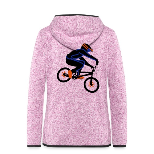 BMX Rider Dark - Vrouwen hoodie fleecejack