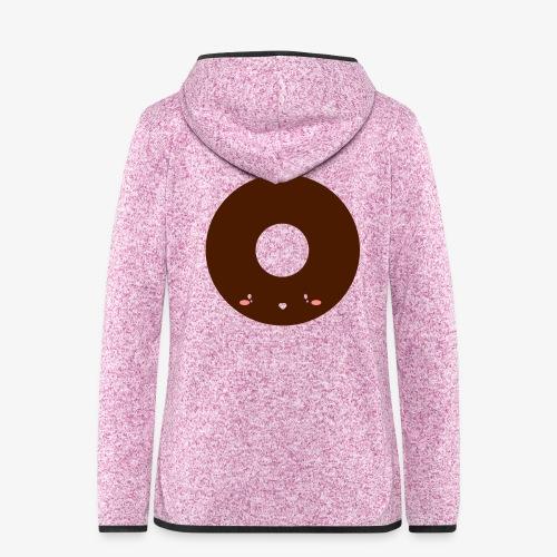 Happy Doughnut - Women's Hooded Fleece Jacket