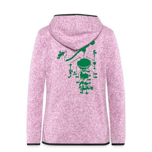 tonearm05 - Vrouwen hoodie fleecejack