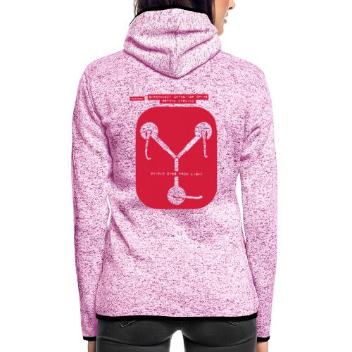 Back To The Future DeLorean Flux Capacitor - Women's Hooded Fleece Jacket