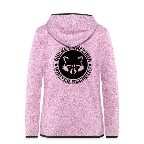 Rocket raccoon logo full - Veste à capuche polaire pour femmes